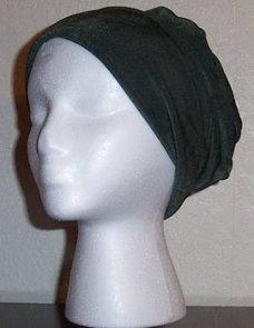 Emerald Green Slinky Roll-brim Hat